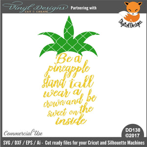 Be A Pineapple Cut File
