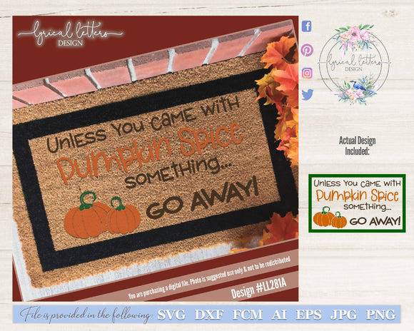 Pumpkin Spice Door Mat SVG Cut File
