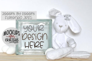 Glass Block Mock-Up - Easter / Spring theme