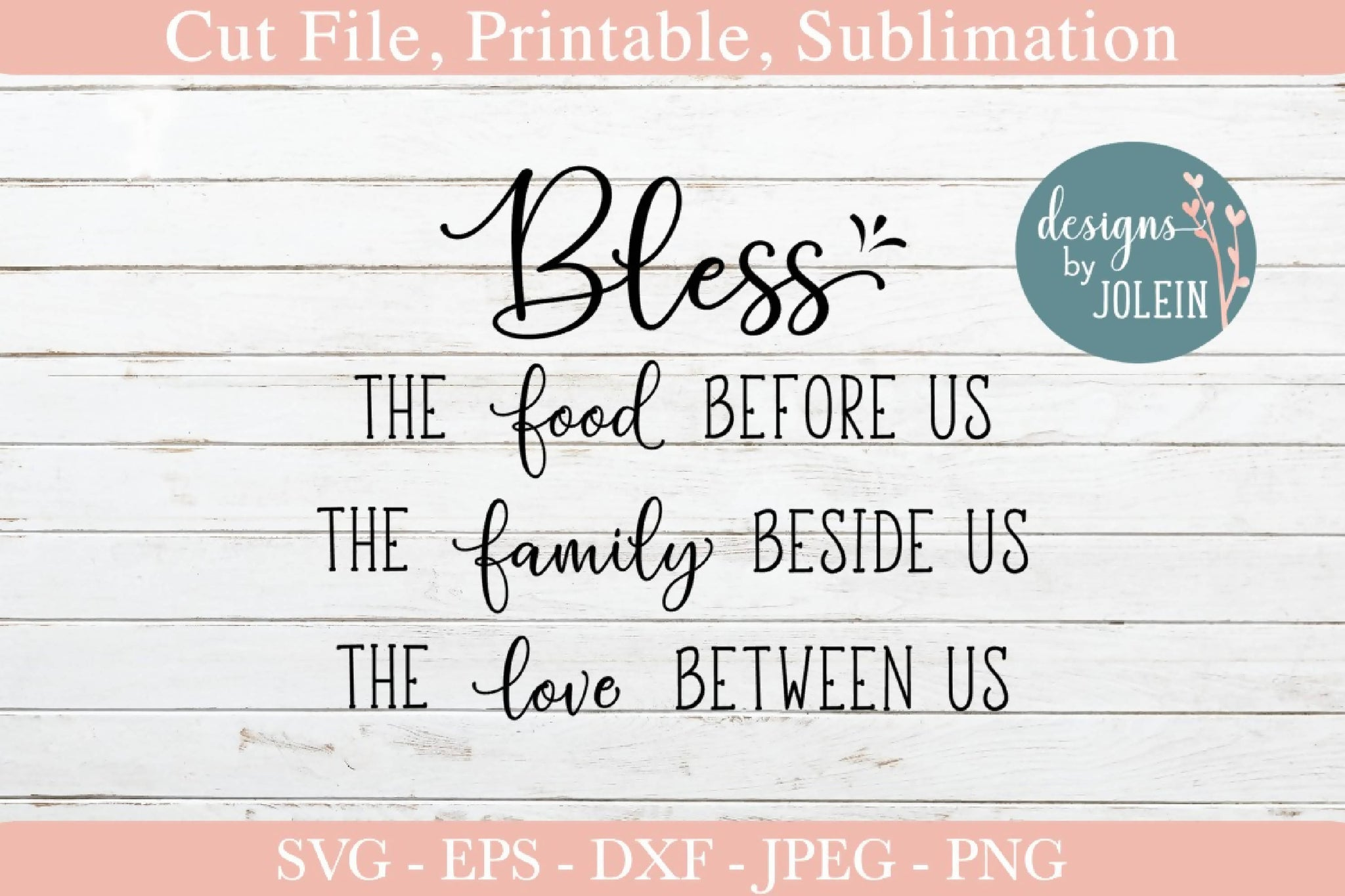 picture about Bless the Food Before Us Printable called Bless the foods, household, delight in SVG Font Marketplace