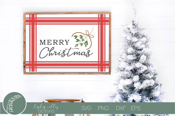 Merry Christmas Plaid SVG