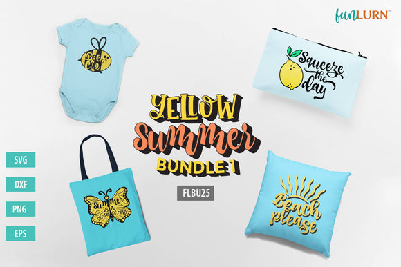 Yellow Summer Bundle 1 SVG Designs