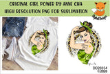 Girl Power By Anne Cha Art Army Mom Sublimation Design