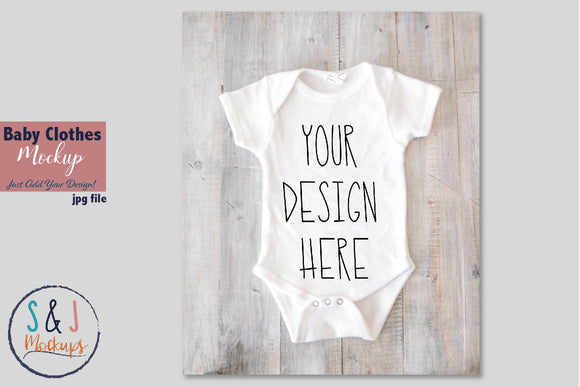 Baby Clothes Mockup, Body Suit Mockup