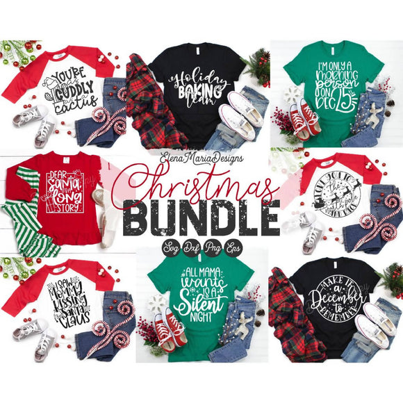 Christmas Holiday Bundle Svg File