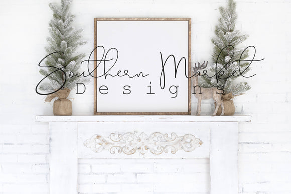 24X24 CHRISTMAS DIGITAL MOCK UP STOCK PHOTOGRAPHY