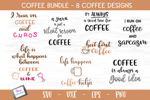 Coffee Bundle - 8 Coffee SVG Files