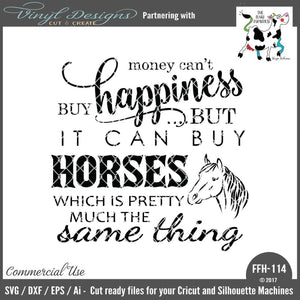 Money Can't Buy Happiness - Horses