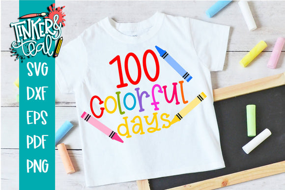 100 Colorful Days of School SVG