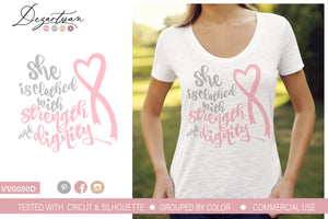 She is Clothed With Strength and Dignity SVG | DXF Cut File
