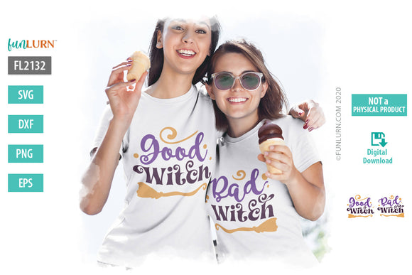 Good Witch Bad Witch SVG Design