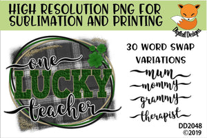 St. Patrick's Day One Lucky Mama Word Swap Sublimation