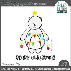 Beary Christmas Cut File