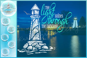 Light Shines Through The Darkness Quote Lighthouse Mandala