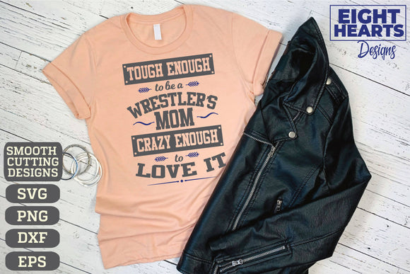 Tough Enough ... Wrestling - SVG|PNG|EPS|DXF - Cut, Print, Iron-On, Sublimate - Graphics | Illustrations | Subway Art
