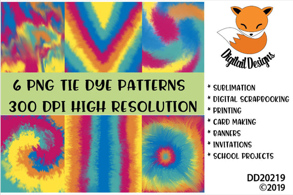 Tie Dye Digital Paper Pack