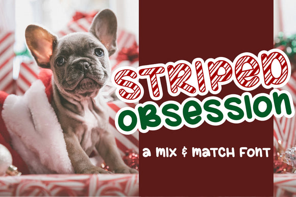 Striped Obsession Font OTF TTF