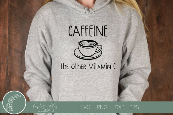Caffeine The Other Vitamin C Funny Coffee SVG