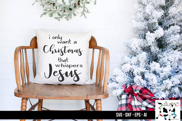 A Christmas that Whispers Jesus