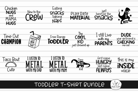 Toddler T-Shirt SVG Bundle