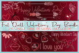 Foil Quill Single Line Valentines Day Element Bundle SVG