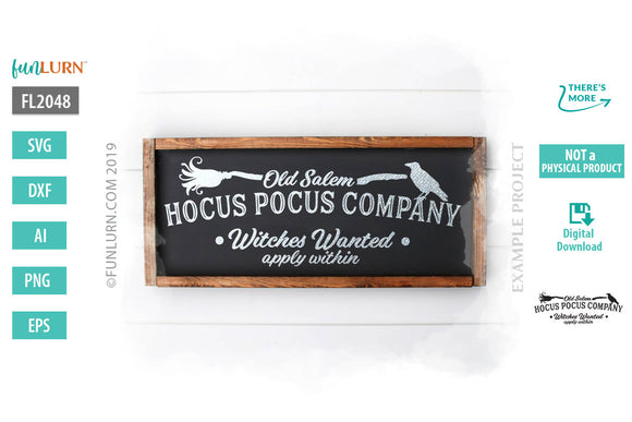 Old salem hocus pocus company witches wanted svg cut file