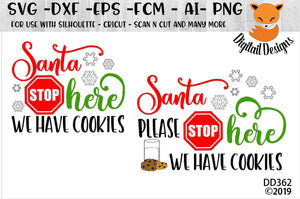 Santa Please Stop Here Christmas Sign SVG