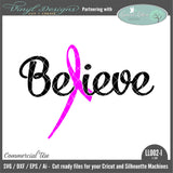 Believe Pink Ribbon