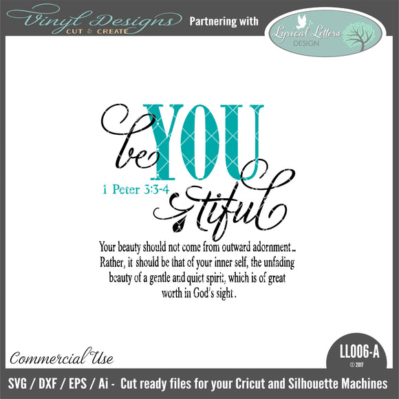 LL006A - Be You Tiful 1 Peter 3:3-4