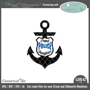work, occupation, police, law enforcement, proud police wife, police wife, anchor, badge