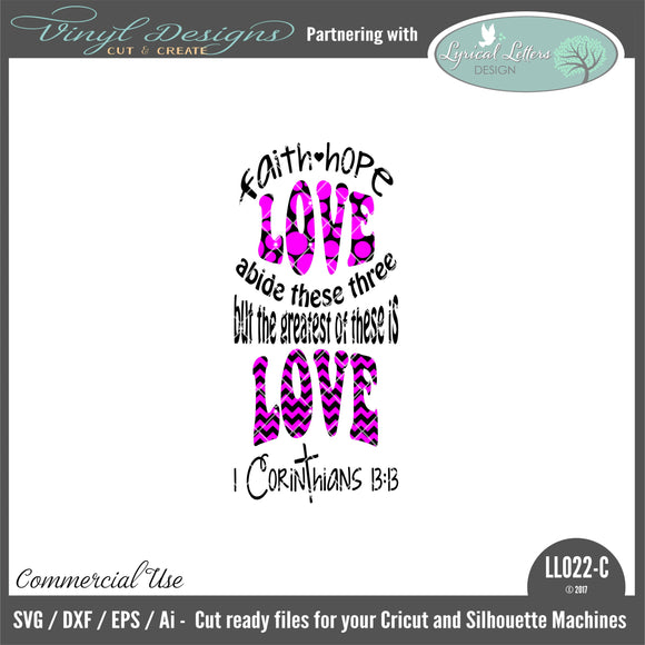LL022C - Faith Hope Love