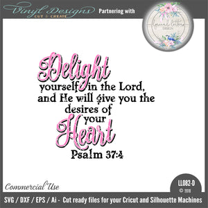 Psalm 37:4 Delight Yourself in the Lord