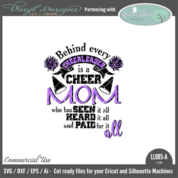 LL085A - Behind Every Cheerleader is a Cheer Mom