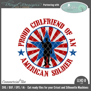 LL142D - Proud Girlfriend of an American Soldier