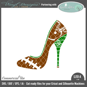 LL151A - Football High Heel Shoe