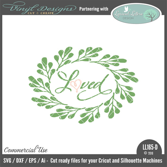 LL165D - Loved Farmhouse Style Wreath