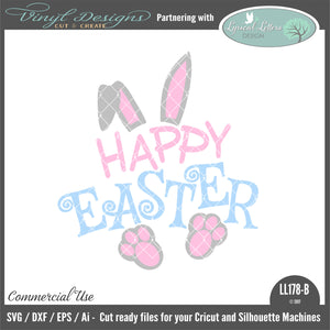 LL178B - Happy Easter with Rabbit Ears