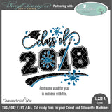 LL220A - Class of 2018 Art Theme with Grad Cap