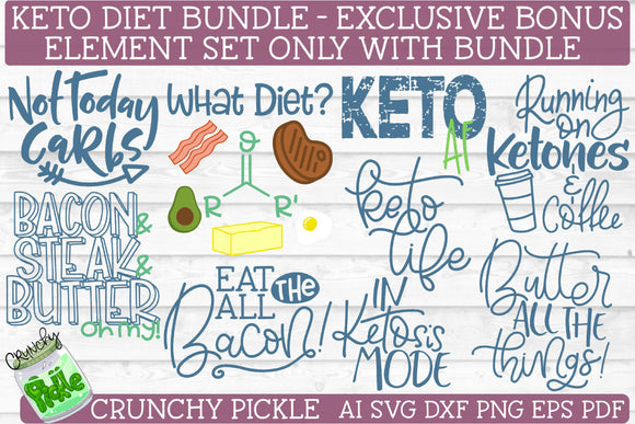 Keto Diet SVG File Bundle