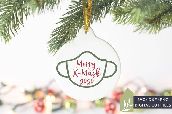 Merry X-Mask SVG, 2020 Christmas Ornament SVG