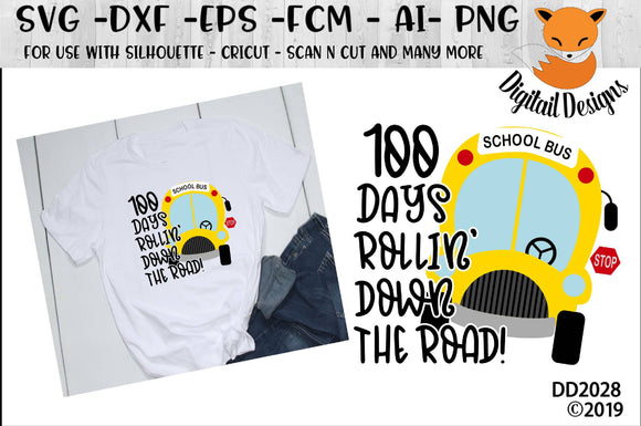 100 Days Of School Bus Driver SVG
