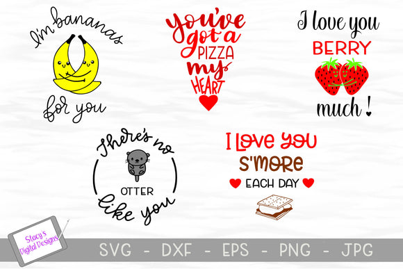 Pun SVG Bundle - 5 Pun Designs