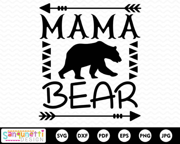 Mama Bear SVG Cutting file