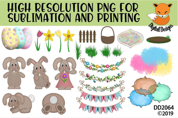 Easter Spring Sublimation Element Bundle