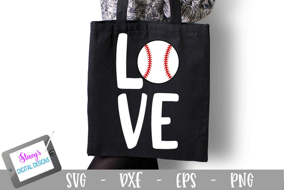 Baseball SVG - Love SVG - Love with baseball - Square
