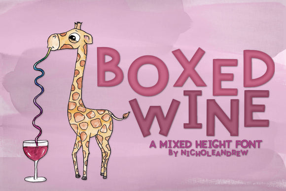 Boxed Wine Font