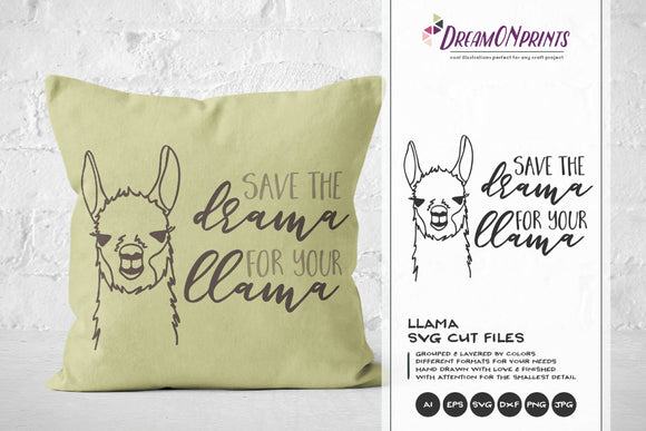 Save the Drama for the Llama SVG