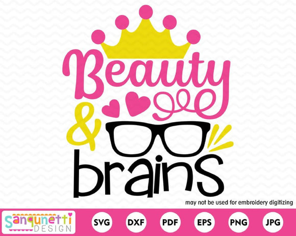 Beauty and Brains SVG Cutting file