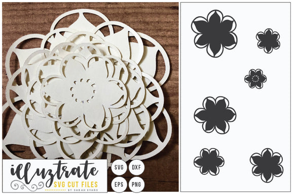 Paper Cutting Flower SVG Cut File