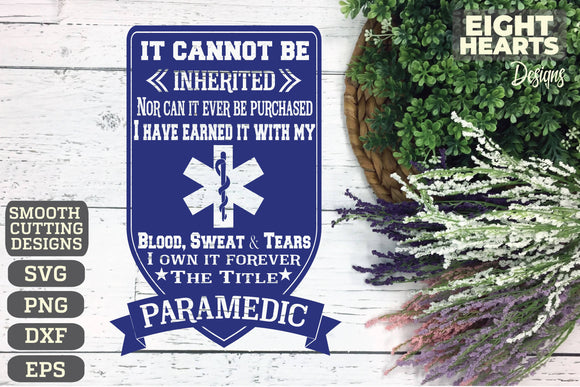 Paramedic - Subway Art - SVG|PNG|EPS|DXF - Cutting, Crafting, Printing, Sublimating, Iron on Transfer DIY's Dream!